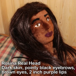 Valentina Girl Sex Doll with Real Head Rosina Brown Skin option
